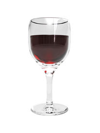 pic of wine-glass  - 3D Wine Glass with wine on a white background - JPG
