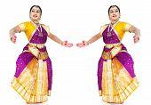 stock photo of bharatanatyam  - female Bharathanatyam dancer of Tamil nadu in South India - JPG