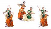 foto of bharatanatyam  - beautiful female Bharathanatyam dancers of Tamil nadu in South India - JPG