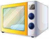 pic of choke  - Illustration of a microwave on a white background - JPG