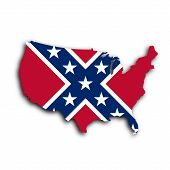 picture of flag confederate  - Country shape outlined and filled with the flag Confederate flag - JPG