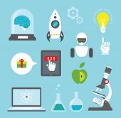 foto of atomizer  - Vector set of icons for innovation and science - JPG