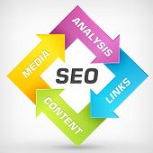 foto of speaker  - Search engine optimization vector strategy plan process - JPG