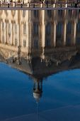 Reflect In The Square Of The Bourse, Bordeaux, Gironde, Aquitaine, France poster