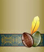 pic of pasqua  - Easter greeting card with eggs - JPG
