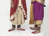 stock photo of bharatanatyam  - feets of female Bharathanatyam dancer of Tamil nadu in South India - JPG