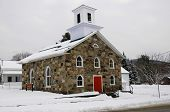 Olivet Baptist Church im Winter Sutton, Quebec, Kanada