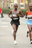 BARCELONA - FEB, 17: The World champion 5000 m in Paris 2003, Eliud Kipchoge, running during Barcelo
