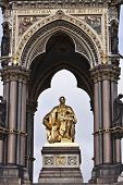 stock photo of kensington  - Prince Albert monument statue London Kensington UK - JPG
