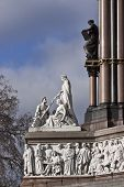stock photo of kensington  - Fragment of Prince Albert monument in  London - JPG