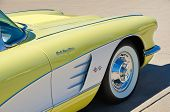 Closeup of 1958 Chevrolet Corvette Convertible