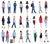 stock photo of side view people  - collection  - JPG