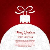 stock photo of special occasion  - Christmas ball greeting banner - JPG