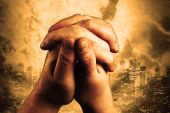 stock photo of rapture  - two hands are praising the holy lord - JPG