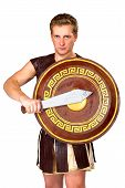 picture of perseus  - a young male warrior with a shield - JPG