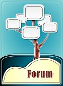 Forum tree or concept information marine background