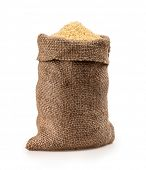 bag of millet on a white background