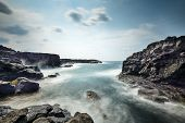 picture of volcanic  - Volcanic rock on the Coastline of Hachijojima - JPG