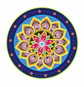 stock photo of dharma  - Culture art pattern design with colourful graphic style - JPG