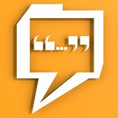 Speech Bubble With Orange Color Background
