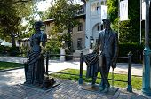 Monument Lady With The Dog And Chekhov In Yalta
