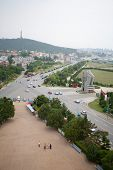 LUSHUN, CHINA - JUNE 10, 2012: Port city Lushun, russian name Port Arthur, is now a naval base in Ch