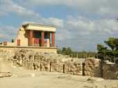 image of minotaur  - Ruins of old palace in Minotaur labyrinth Crete - JPG