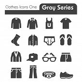 picture of black pants  - Clothes Icons Gray Series One - JPG