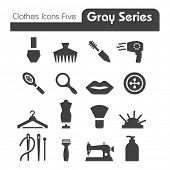 Clothes Icons Gray Series five