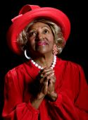 stock photo of african american woman  - Beautiful elderly african - JPG