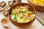 Vegetable Salad In Rustic Wooden Bow