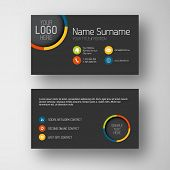 stock photo of placeholder  - Modern simple dark business card template with some placeholder - JPG