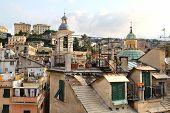 image of genova  - Beautiful view of roofs of Genova - JPG