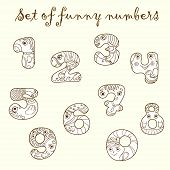 Set of funny figures (numbers).