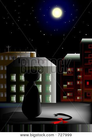 poster of Cat Over A City