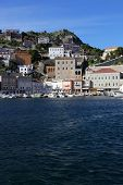 foto of hydra  - Coast of Greek island Hydra - JPG