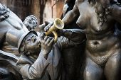 stock photo of trumpets  - Marriage Carousel Fountain  - JPG