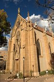image of chapels  - the Loretto chapel in Santa Fe New Mexico USA - JPG