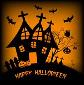 pic of happy halloween  - Festive illustration on theme of Halloween - JPG