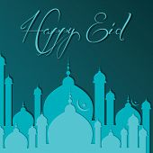 stock photo of kaba  - vector illustration of Creative Eid greeting card - JPG