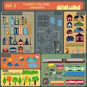 Modern City Map Elements For Generating Your Own Infographics, Maps poster