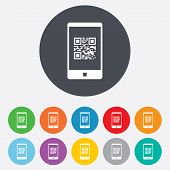 pic of qr-code  - Qr code sign icon - JPG