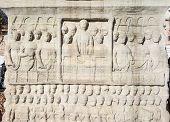pic of obelisk  - The base of the Obelisk of Theodosius in the historic center - JPG