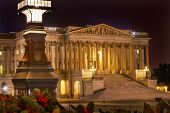 picture of senators  - Senate US Capitol North Side Light Congress Capitol Hill Night Stars Washington DC - JPG