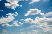 foto of stratus  - Cloudscape of bright blue sky - JPG