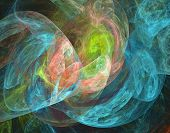 stock photo of plasmatic  - Beautiful iridescent plasmatic background in blue pink and green spectrum - JPG