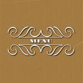 foto of monogram  - calligraphy monogram floral design vintage pattern logo EPS 10 - JPG