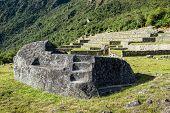 stock photo of mortuary  - Mortuary rock at Machu Picchu - JPG