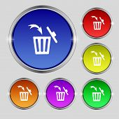 picture of recycling bin  - Recycle bin sign icon - JPG