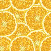 Постер, плакат: Seamless pattern with oranges